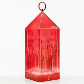 Kartell Lantern lampe à poser LED, rouge IP54
