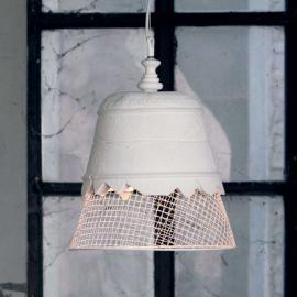 Suspension designer Domenica plâtre, blanc, 35 cm