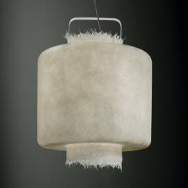 Suspension LED Kimono fibre verre blanche, 50cm