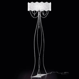 Superbe lampadaire MAREA avec pampilles en cristal