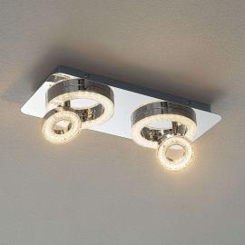 Plafonnier LED chatoyant Tim, 40 cm de long
