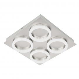 Plafonnier Ring à quatre lampes, éclairage LED