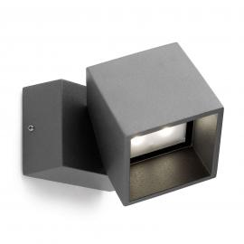 Applique extérieure LED Cubus, anthracite