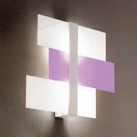 Plafonnier abstrait Triad 62cm blanc violet
