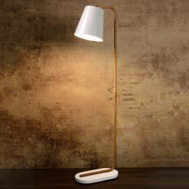 Lampadaire LED Cona en bois et métal