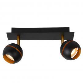 Plafonnier LED à deux lampes Binari en noir