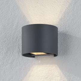Applique LED grise Xio, sortie lumineuse réglable