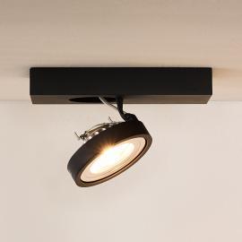 Plafonnier avec spot LED gris Nenad, à une lampe