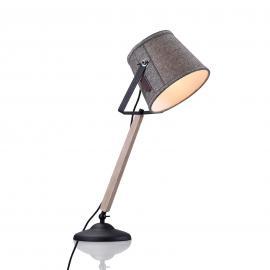 Lampe à poser Legend avec bois