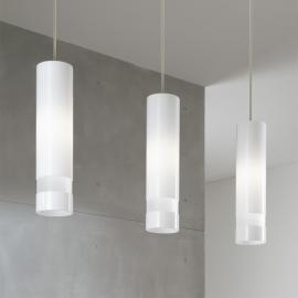 Suspension blanche Otello à 3 lampes