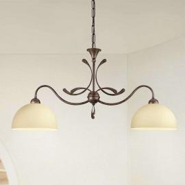 Suspension rustique Lorenzo à 2 lampes