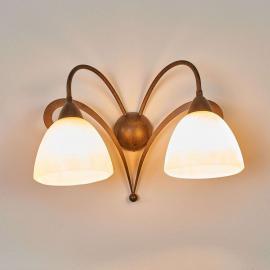 Applique rustique LUCA à 2 lampes