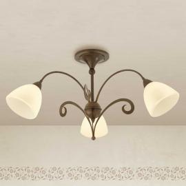 Plafonnier rustique Luca à 3 lampes