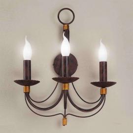 Applique Leonardo à 3 lampes style antique