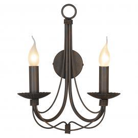 Applique Leonardo à 2 lampes style antique