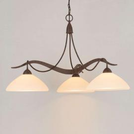Suspension rustique Samuele à 3 lampes