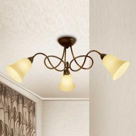 Plafonnier rustique Michele à 3 lampes