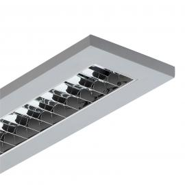 Plafonnier LED LAS carré, 4 000 K