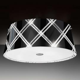 Plafonnier noir Corallo 40, 2 lampes