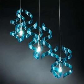 Fascinante suspension BLUE, 3 lampes