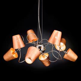Suspension ouvragée Aria à 8 lampes