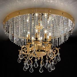 Plafonnier en cristal Junice à huit lampes