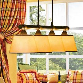 Magnifique suspension LIVING TABLE à 4 lampes