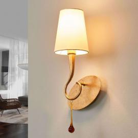 Applique à 1 lampe Paola de couleur or et crème