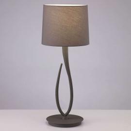 Lampe à poser Lua avec abat-jour en textile, 25 cm