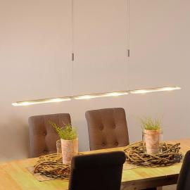 Suspension LED Mala en aluminium et en verre