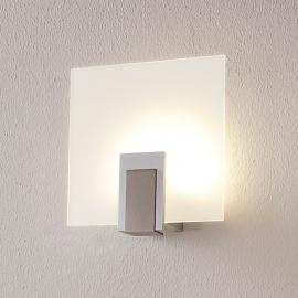 applique LED en verre Sara à interrupteur
