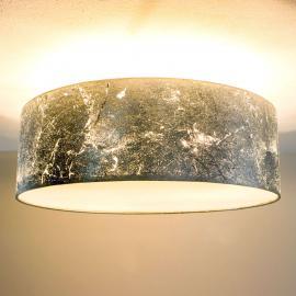 Plafonnier Aura feuille métal. chiffonnée, argenté