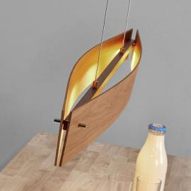 Chêne naturel - suspension LED Malu en bois