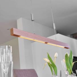 Suspension LED en chêne Nora, 78 cm