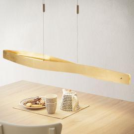 Suspension LED courbée Lian dorée