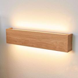 Applique LED Mila dimmable bois de chêne, 45 cm