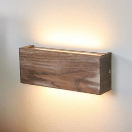 Applique LED Mila bois, dimmable, 25 cm