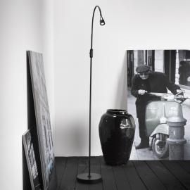 Lampadaire LED ajustable Mento noir