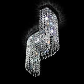 Plafonnier Shine cristal arqué