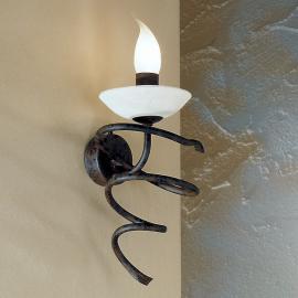 Applique MAURO au style rustique avec verre Scavo