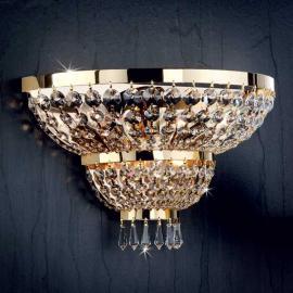 Applique SHERATON doré 24 carats 3 ampoules