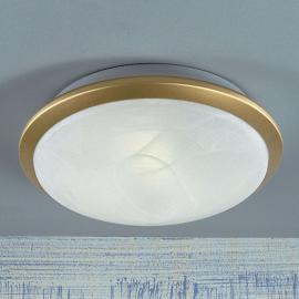 Joli plafonnier Corella en laiton 32 cm
