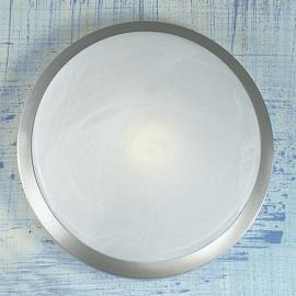 Joli plafonnier Corella en chrome 32 cm