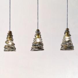 Suspension enroulée FASCIATA à 3 lampes