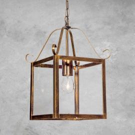 Magnifique suspension FALOTTA carrée, à 1 lampe