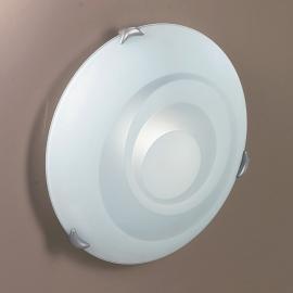 Plafonnier en verre à motif LORIA, Ø 30 cm