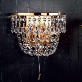 Applique cristal dorée SHERATA