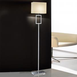 Magnifique lampadaire Renee abat-jour de tissu