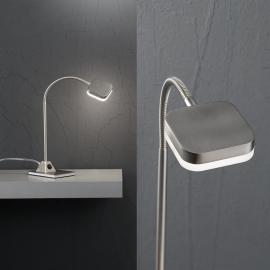 Lampe à poser LED Tobias 5 W nickel mat