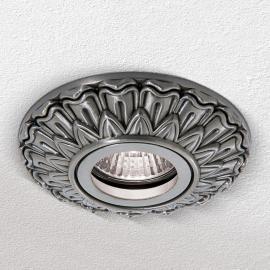 Plafonnier encastrable Sada carré argent antique